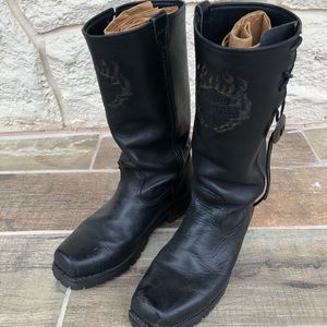 Women's Leather Harley Davidson Boots 10.5